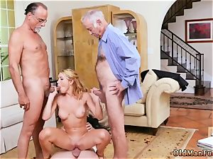 elder romp very first time Frannkie And The group Tag team A Door To Door Saleswoman